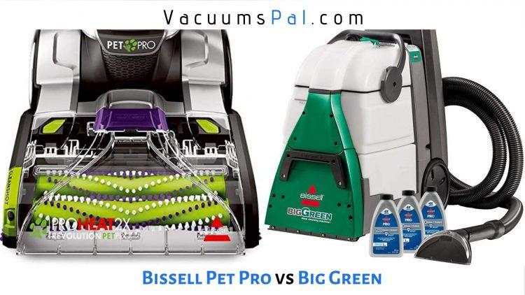 Bissell ProHeat 2x Revolution Pet Pro vs Big Green